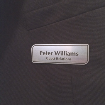 Silver Name Badge