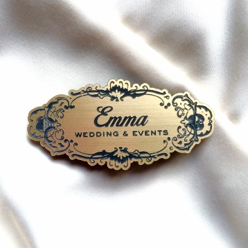 Gold Name Badge