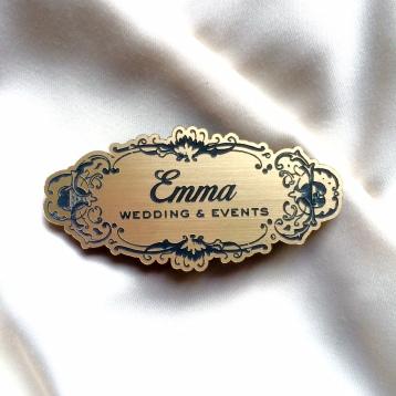Gold Name Badge