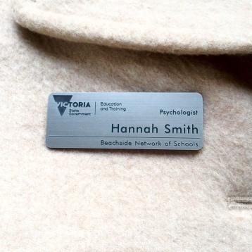 Silver Name Badge