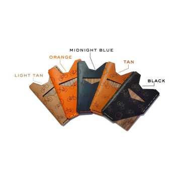 Slim Leather & Wooden Wallet