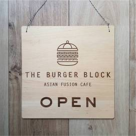 Open/Closed Wood Sign